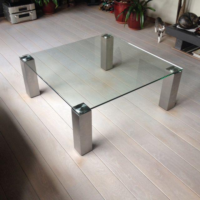 Vierkante Salontafel Met Glasplaat.Salontafel Van Glas Hagendijk Techniek