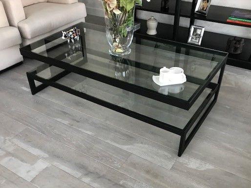 Salontafel Glas Zwart Metaal.Zwarte Glazen Design Tafel Hagendijk Techniek