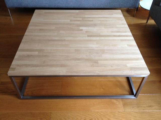 Rvs salontafel eiken houten blad hagendijk techniek