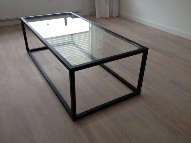 Zwarte Tafel Met Glasplaat.Salontafel Zwart Hagendijk Techniek Metaalbewerkingsbedrijf