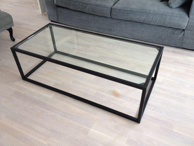 ≥ salontafel zwart metaal en glas tafels salontafels