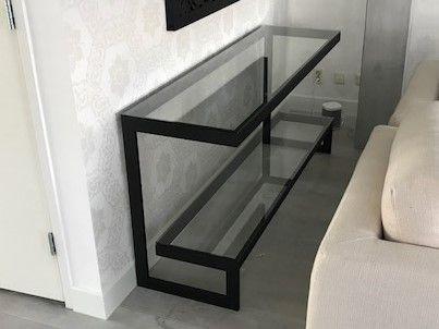 Glazen Design Sidetable.Zwarte Sidetable Hagendijk Techniek Metaalbewerkingsbedrijf