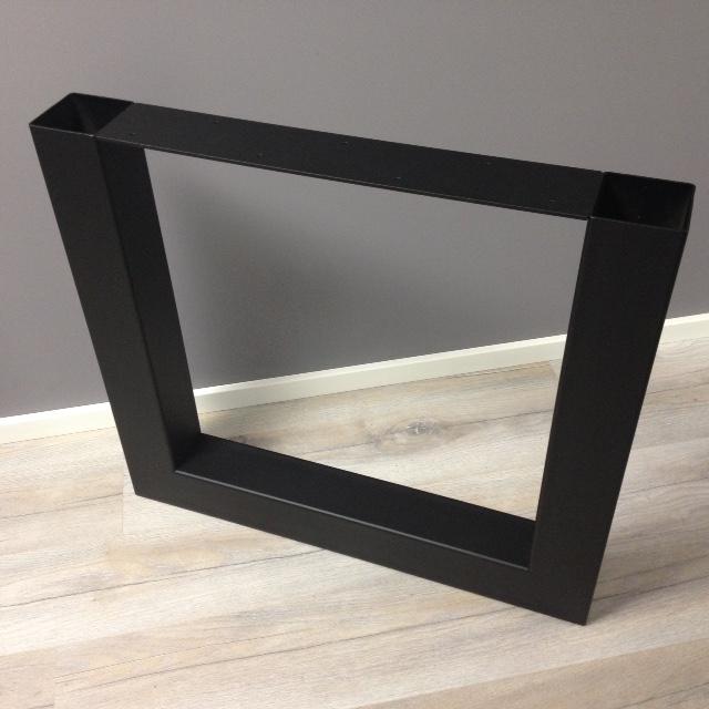 Tafelpoten Metaal Zwart.Zwarte U Vormige Tafelpoot Hagendijk Techniek